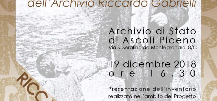 19 Dicembre: CARO RICCARDO… A ZONZO FRA LE CARTE DELL'ARCHIVIO RICCARDO GABRIELLI.