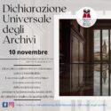 DICHIARAZIONE UNIVERSALE DEGLI ARCHIVI – 10 NOVEMBRE