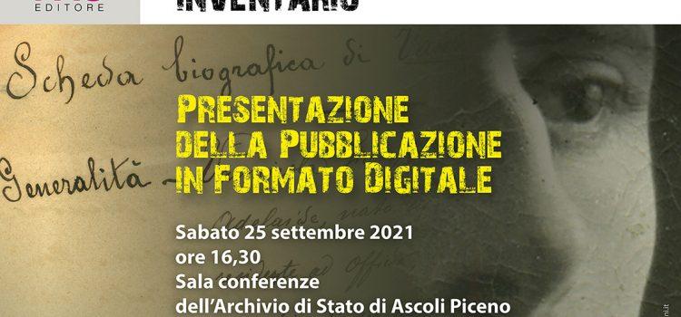 GEP 2021 – I documenti dell'archivio della Questura di Ascoli Piceno: accessibilità e inclusività delle fonti documentarie per la ricerca storica
